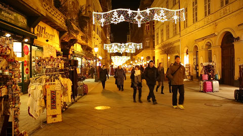 Christmas In Budapest stock footage