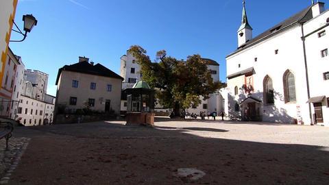 The Fortress Hohensalzburg in Salzburg Footage