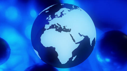 Animated globe world background Animation