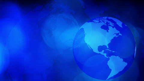 Planet Earth Rotating Background stock footage