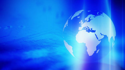 Globe Technology Blue Abstract Background stock footage