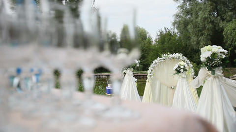 White Arch For Wedding stock footage