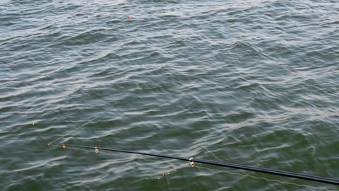 Casting a spinning rod Footage