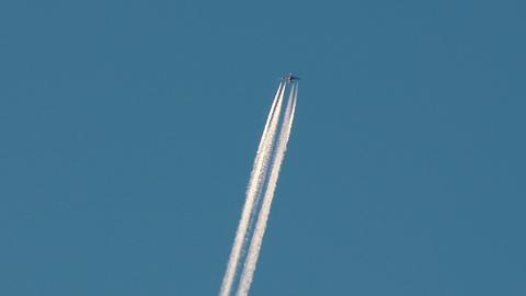 4K Aircraft on Blue Sky 1 Footage