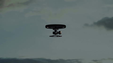 4 K High Tech Wide Angle Film Camera Drone In Acti stock footage