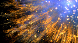 The Explosion Of An Object In Cosmos By Missiles stock footage