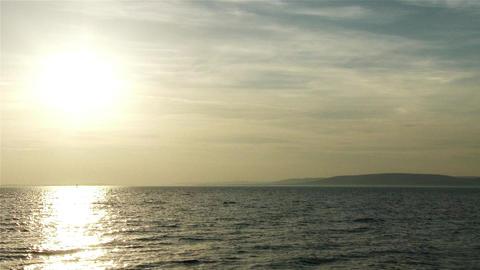 Sunset over Lake Balaton Hungary 2 Footage