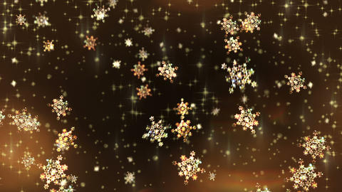 Christmas Winter Snowflakes Background Animation