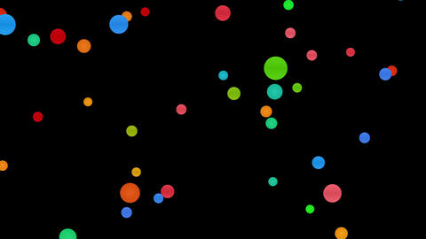 colorful circles abstract background - 4k 30fps lo, CG動画素材