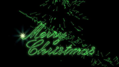 Merry Christmas Greeting Video Animation