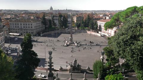 Piazza De Popolo stock footage