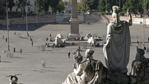 Piazza De Popolo stock footage