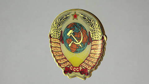 Coat of arms of the Soviet Union. 4K Footage