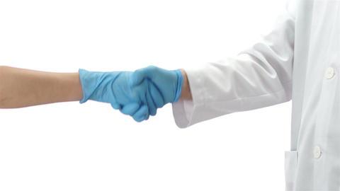 Doctor and Nurse Handshake Footage