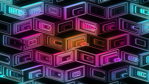 Neon Pattern 001 B Beat Random GSC Animation