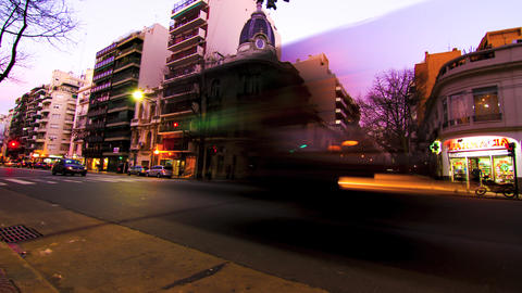 Evening in Buenos Aires Footage