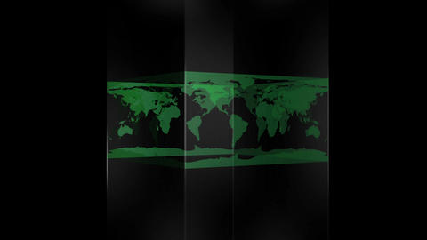 Transparent Block Showing World Map stock footage