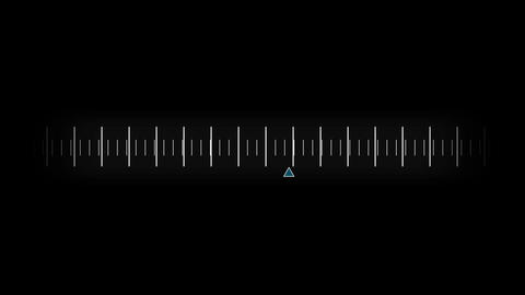 Dial graphic moving on black background Animation