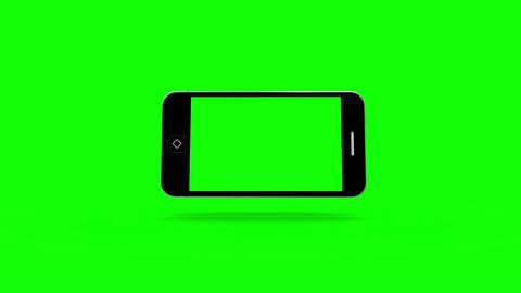 Smartphone moving on green screen Animation