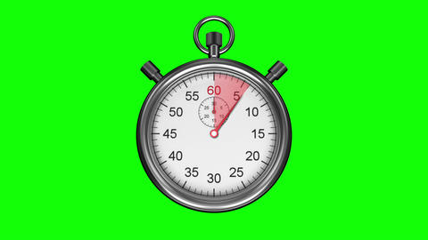 Stopwatch on green background Animation
