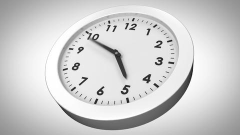 Clock ticking on white background Animation