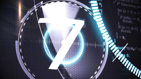 Countdown from ten to one in technology style Stock Video Footage