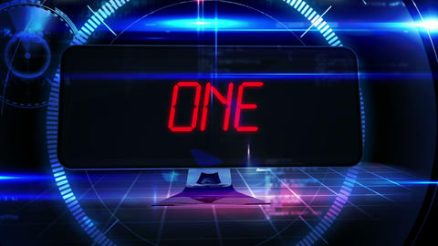 Countdown to 2015 on computer screen in tech style Animation
