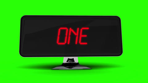 Countdown to 2015 on computer screen on green background Animation