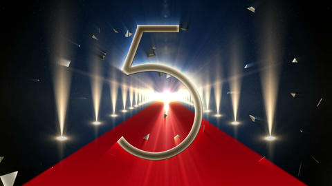 Countdown To 2015 On Red Carpet stock footage