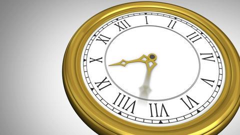Ticking clock on grey background Animation
