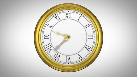 Ticking clock on white background Animation