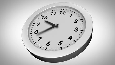 Ticking Clock On White Background stock footage