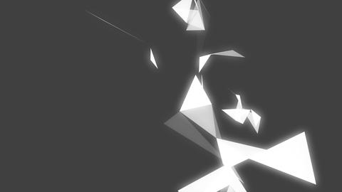 Geometric shapes on grey background Animation