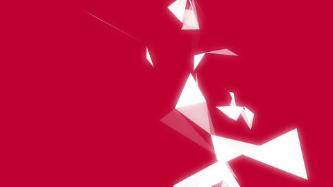 Geometric shapes on red background Animation
