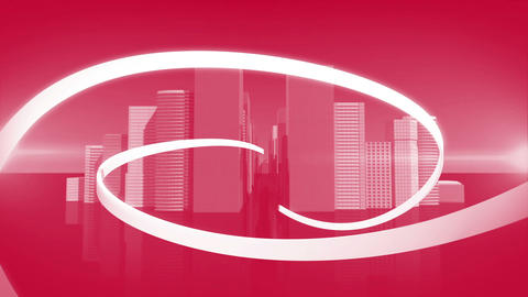Lines swirling with cityscape background Animation