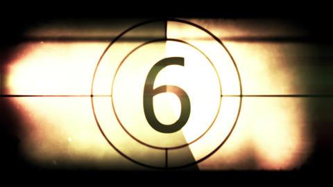 Retro film strip countdown Animation
