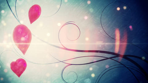 Shimmering hearts with copy space Animation