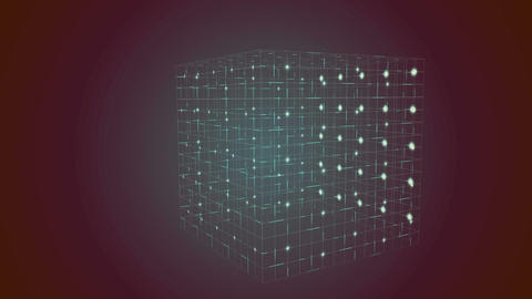 Grid moving on dark background Animation