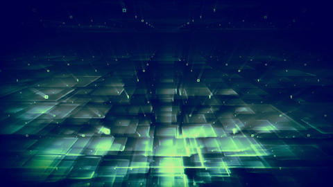 Lights Shining In A Square Pattern stock footage