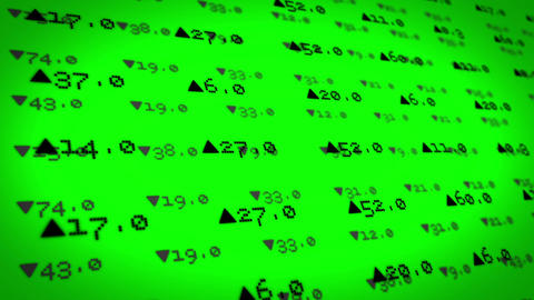 Stocks And Shares On Green Background stock footage