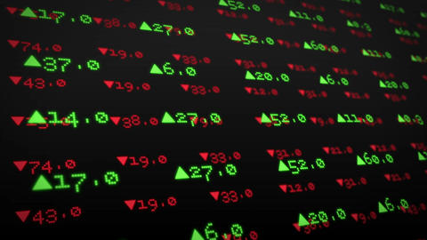Stocks And Shares On Black Background stock footage