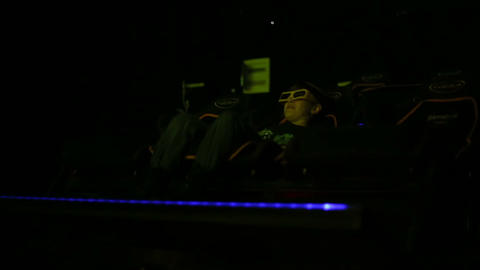 Boy looking 5D cinema Footage