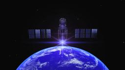 衛星と地球 stock footage