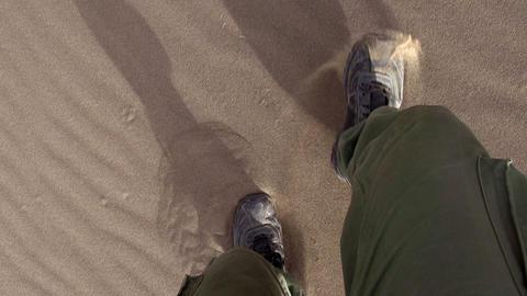 Running On Sand stock footage