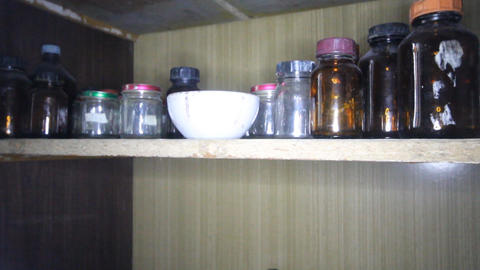 Vintage Chemistry Laboratory School Case stock footage
