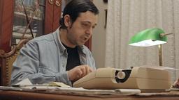 Writer at typewriter 1 Footage