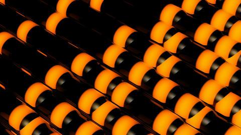 Orange Strip Stick stock footage
