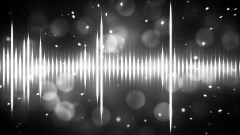 white on black digital equalizer loopable backgrou Animation
