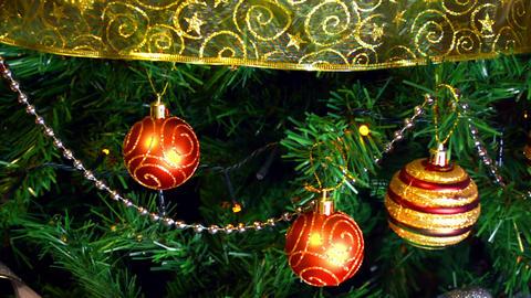 Christmas tree ball ornaments Footage