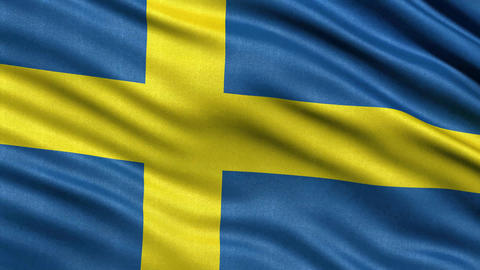 4K Flag of Sweden seamless loop Ultra-HD Animation